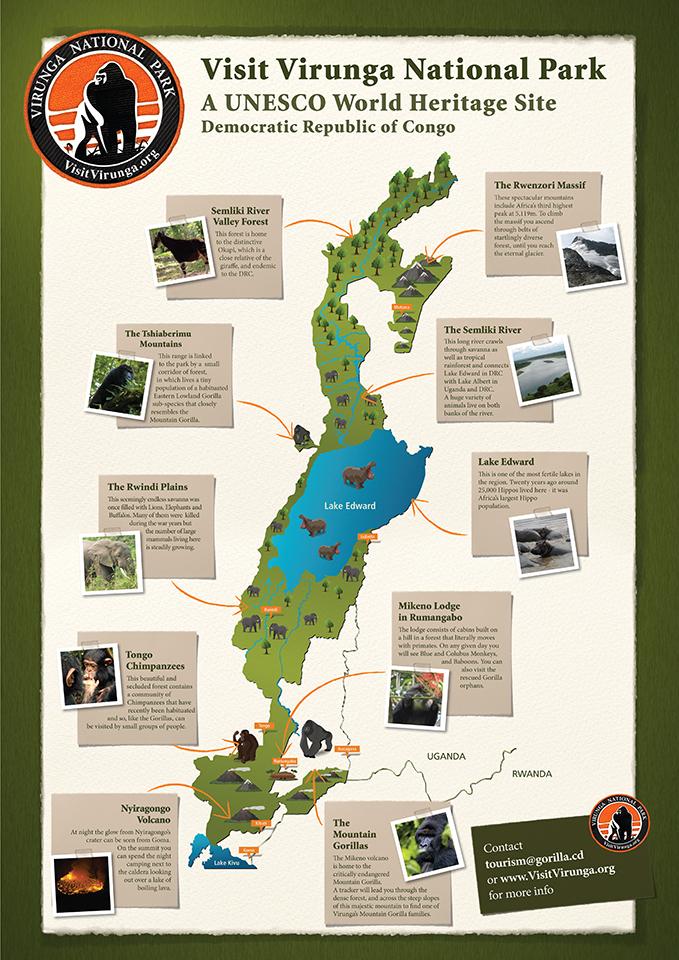 Tourist map Virunga