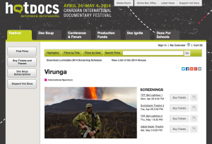 Virunga@Hot docs Toronto